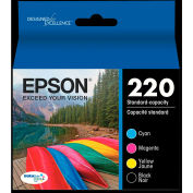 Epson® T220120BCS (220) DURABrite Ultra Ink, Combo Pack