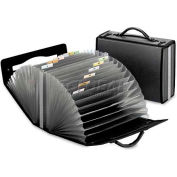 Pendaflex 1132 Document Carry Case, Poly, 26 pockets, 4 5/8 x 13 1/8 x 10 1/4, Smoke