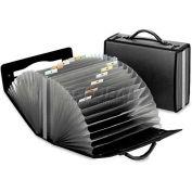 Pendaflex 1132 Document Carry Case, Poly, 26 pockets, 4 5/8 x 13 1/8 x 10 1/4, Smoke