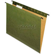 Pendaflex® Poly Laminate Reinforced Hanging Folders, Letter, Green, 20/Box