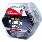 Dust-Off Antistatic Monitor Wipes Office Share Pack, 200 Indiv. Wipes - FALDMHJ