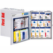 First Aid Only 1350-FAE-010 Metal First Aid Kit, Metal Detectable, 25 Person