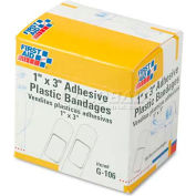 "First Aid Only G-106 Plastic Adhesive Bandages,1"" x 3"", 100/Box"