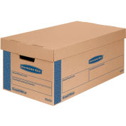 "Bankers Box® SmoothMove Prime Small Moving Boxes, 24""L x 12""W x 10""H, Kraft/Blue, 8/CTN"