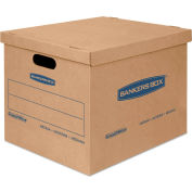 """Bankers Box® SmoothMove Classic Small Moving Boxes, 15""""L x 12""""W x 10""""H, Kraft/Blue, 20/CTN"""