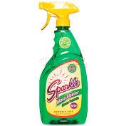 Sparkle Green Formula Glass Cleaner, 26 oz. Trigger Spray Bottle, 12 Bottles/Case - FUN30126CT