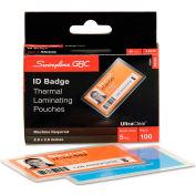 GBC® HeatSeal Thermal Laminating Pouch, 5 mil, 2 9/16 x 3 3/4, ID Size, 100