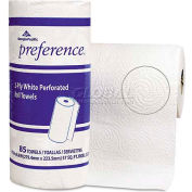 "Preference Perforated Paper Towel Roll, 11"" X 8-4/5"", White, 15 Rolls/Case - GEP27315"