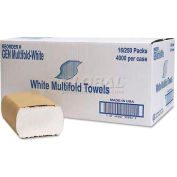 General Supply Multifold Towel, 1-Ply, Whtie, 250 Bundles/Case - GERMULTIFOLDWH