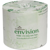 Envision One-Ply Bathroom Tissue, 1210 Sheets/Roll, 80 Rolls/Case - GEP1458001