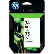 HP 74; HP 75 Tri-Color 2-pack Original Ink Cartridges