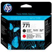 HP CE017A (HP 771) Printhead, Matte Black, Chromatic Red