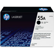 HP CE255AG (HP-55A) Toner, 6000 Page-Yield, Black