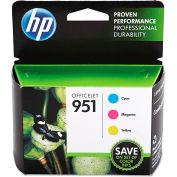HP 951 3-pack Cyan/Magenta/Yellow Original Ink Cartridges