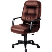 HON® Executive Office Chair w/ Pillow Top - Leather - High Back - Burgundy - Pillowsoft Series