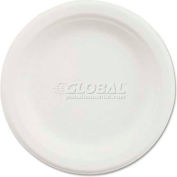 """Chinet® VACATE, Paper Plate, 6"""" Dia., White, 1000/Carton"""