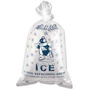 """Printed Ice Bag 12"""" x 21"""" 10Lb Capacity 1.5 Mil - 1000 Pack"""
