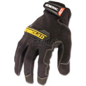 Ironclad IRNGUG04L General Utility Spandex Gloves, 1 Pair, Black, Large