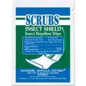 SCRUBS® Insect Shield Insect Repellent Wipes, 8 x 10, White, 100/Carton - ITW91401