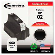 Innovera® 21WN Compatible, Remanufactured, C8721WN (02) Ink, 660 Page-Yield, Black
