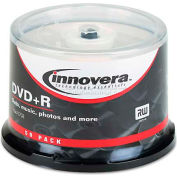 Innovera 46851 DVD+R Discs, 4.7GB, 16x, Spindle, Silver, 50/Pack