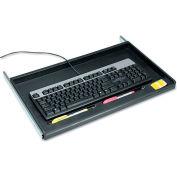 """Innovera® 53010 Under Desk Keyboard Drawer, 15"""" Track Length, Black"""