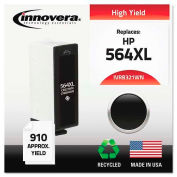 Innovera® Compatible Remanufactured High-Yield CB321WN (564XL) Ink, 550 Page-Yield, Black
