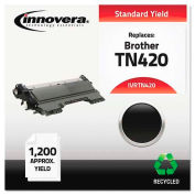 Innovera® TN420 Compatible, Remanufactured, TN420 Laser Toner, 1200 Page-Yield, Black