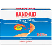 BAND-AID 4434 Flexible Fabric Premium Adhesive Bandages, 3/4 x 3, 100/Box