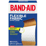 "BAND-AID 5685 Flexible Fabric Extra Large Adhesive Bandages, 1-3/4"" x 4"", 10/Box"