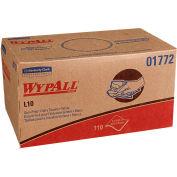 WypAll L10 Sani-Prep Dairy Towels, 10-1/2 x 10-1/4, White, 110/Pack, 18 Packs/Carton - KCC 01772