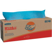 WypAll L40 Wipers, 16-2/5 x 9-4/5, Blue, 100/pop Up Box, 9 Boxes/Carton - KCC 05740
