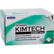 Kimtech Kimwipes Delicate Task Wipers, 4-2/5 x 8-2/5, 280/Box - KCC 34155