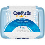 Cottonelle® Fresh Care Flushable Cleansing Cloths, 3-3/4 x 5-1/2, 42/PK, 8 PK/CT - KCC 36734CT