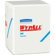 WypAll X60 Washcloths, 12-1/2 x 10, White, 70/Pack, 8 Packs/Carton - KCC 41083