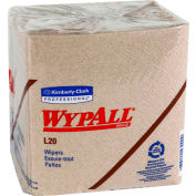 WypAll L20 Wipers, 12-1/2 x 13, Brown, 68/Pack, 12 Packs/Carton - KCC 47000