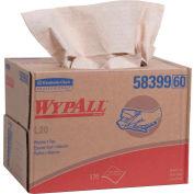 WypAll L20 Wipers, 12-1/2 x 16-4/5, Brown, 176/Brag Box - KCC 58399