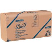"Scott® Recycled Multi-Fold Towels, 9-1/5"" X 9-2/5"", Natural, 16 Packs/Case - KIM01801"