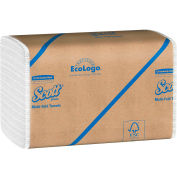 Scott® Multifold Paper Towels, 9-1/4 x 9-1/2, White, 250/Pack, 16 Packs/Case - KIM01804