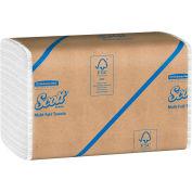 SCOTT 100% Recycled Fiber Multi-Fold Hand Towels, 9-1/5 x 9-2/5, 16/Carton - KIM01807
