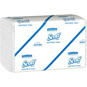 "Scott Scottfold Towels, 8-1/10"" X 12-2/5"", White, 25 Packs/Case - KIM01960"