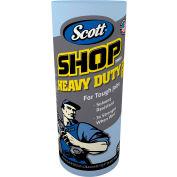 """Scott Pro Shop Towels, 1-Ply, Blue, 10-2/5"""" X 11"""", 12 Cans/Case - KIM32992"""