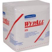 "Wypall X70 Wipers, 1/4-Fold, 12-1/2"" X 14-2/5"", White, 12/Case - KIM41200"