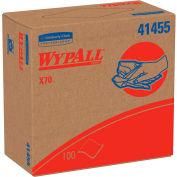 "Kimberly-Clark Wypall X70 Wipes, Pop-Up Box, 9-1/10"" X 16-4/5"", White, 10 Boxes/Case - KIM41455"