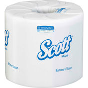 Scott® 100% Recycled Fiber Roll Bathroom Tissue, 605 Sheets/Roll, 80 Rolls/Case - KIM13217