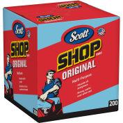 """Scott Shop Towels, Blue Double Recrepe,10"""" X 13"""", 8 Boxes/Case - KIM75190"""