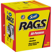 "Scott Rags in a Box 10"" x 12"" 200/Box, White - KIM75260"