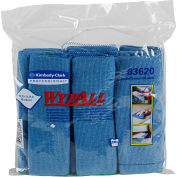 Kimberly-Clark 83620 Wypall Cloths W/Microban,Microfiber,15 3/4 X 15 3/4,Blue,6/Pack