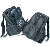 Kensington® Contour Laptop Backpack, Nylon, 15 3/4 x 9 x 19 1/2, Black