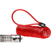 Kensington® 64671 Portable Combination Laptop Lock with 6 ft. Cable, Red